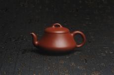 紫砂壶图片:超好小煤窑朱泥 全手工汉棠石瓢壶 端庄秀雅 - 全手工紫砂壶网