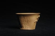 紫砂壶图片:美杯特惠 精致全手工松桩杯 肌理自然丰富 茶人醉爱 - 全手工紫砂壶网