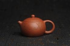 紫砂壶图片:油润降坡泥全手工小品西施壶 装饰喜上眉梢 特文气 - 全手工紫砂壶网