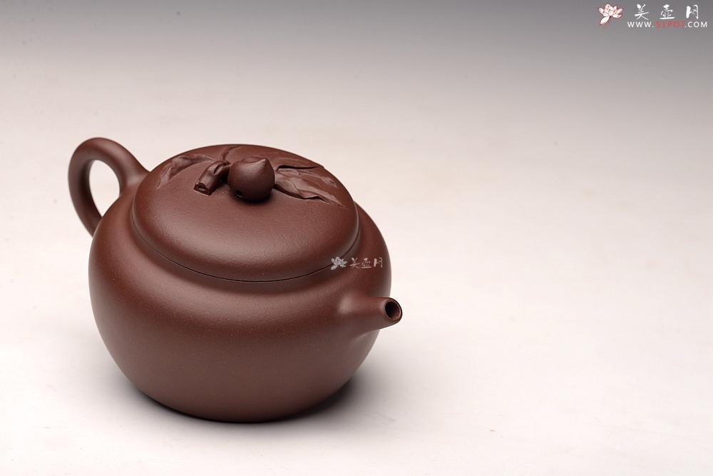紫砂壶图片:全手桃缘 祝寿送礼佳品 寿桃初熟,寿满三千 - 全手工紫砂壶网