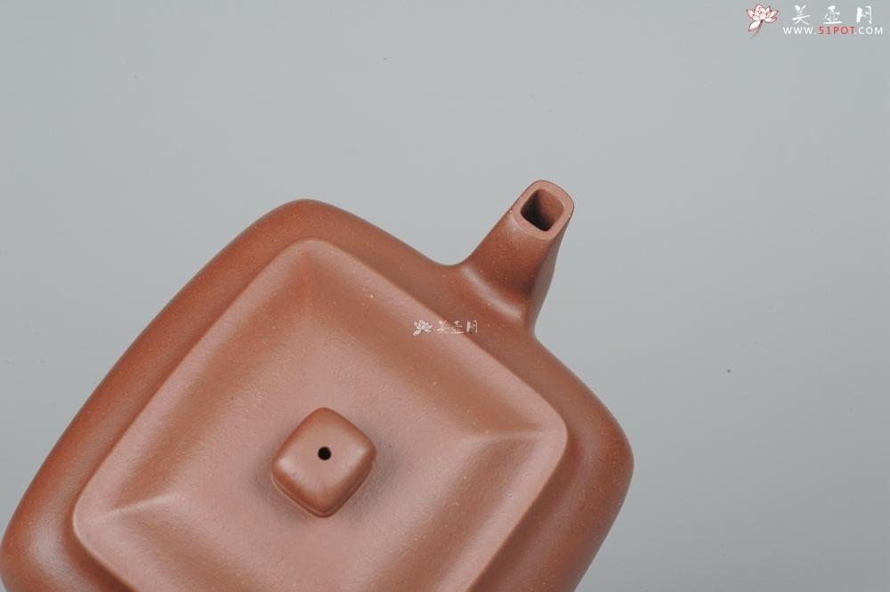 紫砂壶图片:线面挺括 大气全手工原创四方纳福壶 - 全手工紫砂壶网