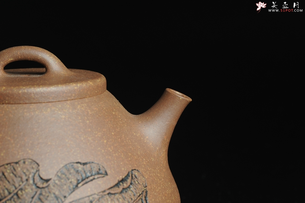 紫砂壶图片:全手工心舟石瓢 毛国强徒弟陆轶舟文气装饰 - 全手工紫砂壶网