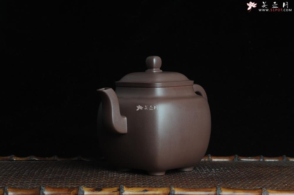 紫砂壶图片:气势磅礴 全手工老紫泥鸣远四方 - 全手工紫砂壶网