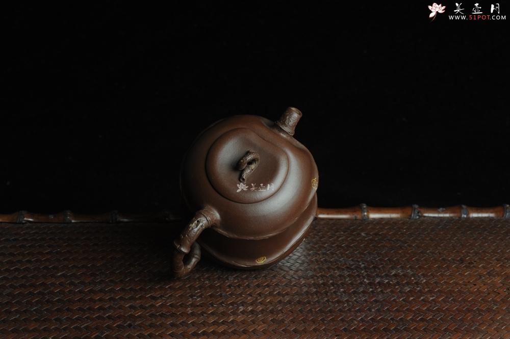 紫砂壶图片:口盖有难度 别具心意 清趣逸品~ 原创全手斑竹 - 全手工紫砂壶网