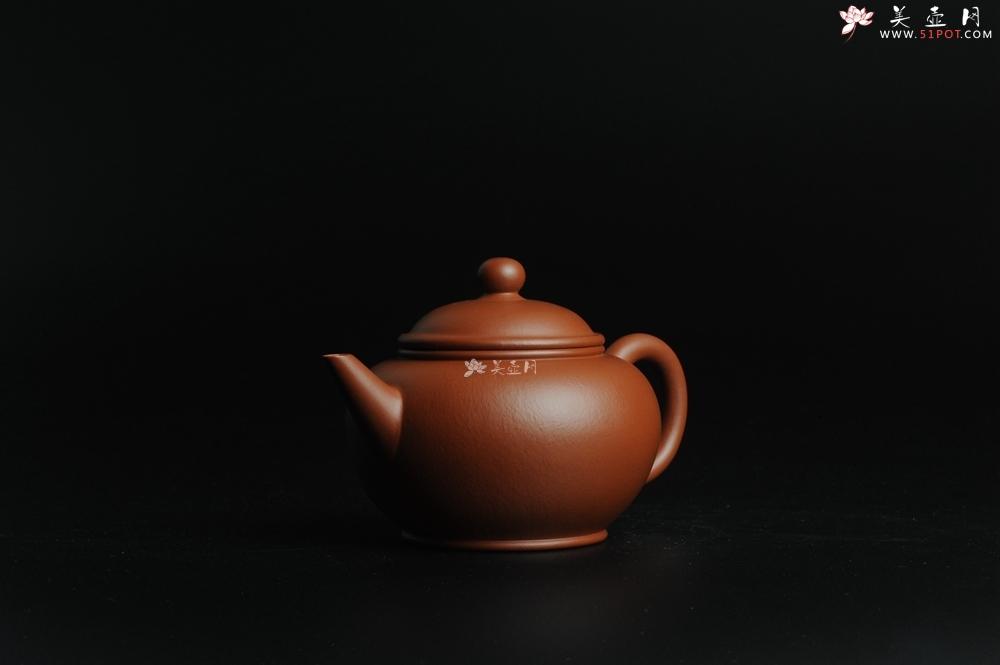 紫砂壶图片:小煤窑朱泥 全手工水平壶 端庄文气 - 全手工紫砂壶网