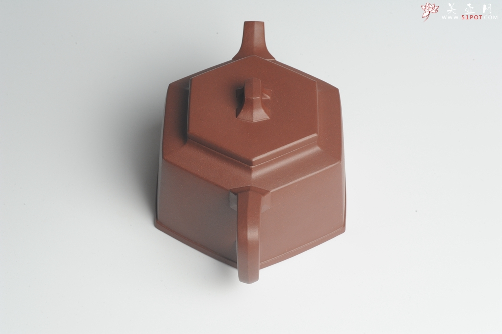 紫砂壶图片:美壶特惠 优质底曹青全手工六方井栏 - 全手工紫砂壶网