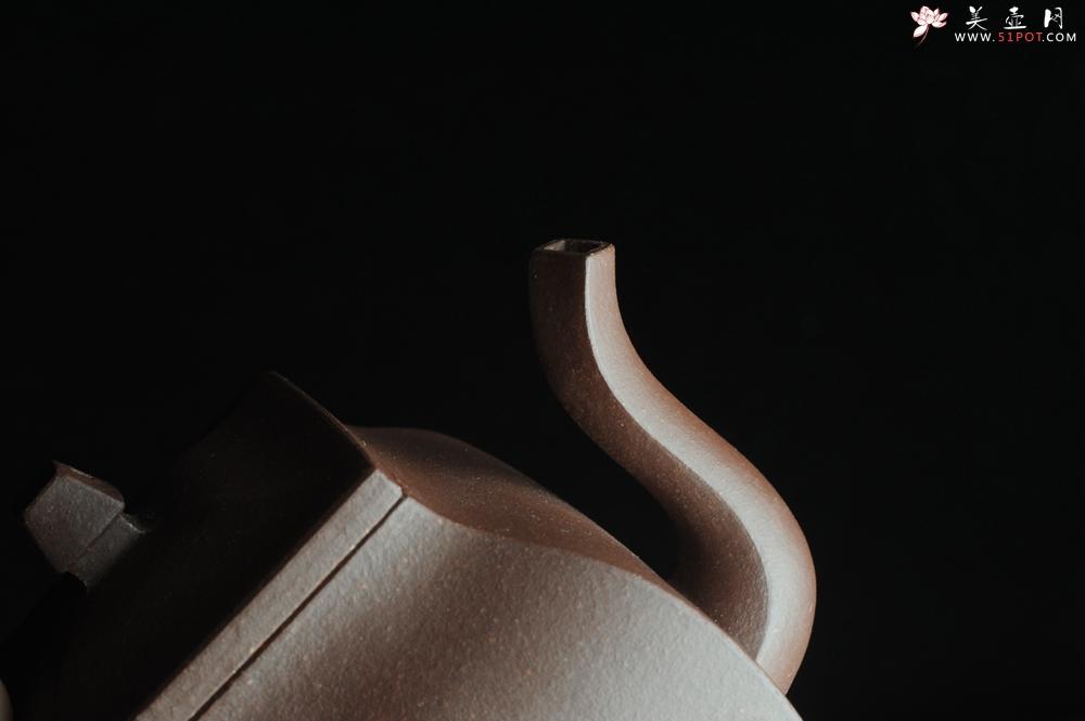 紫砂壶图片:美壶特惠 全手工镶接四方吉金壶 泥料超好 茶人醉爱 - 全手工紫砂壶网
