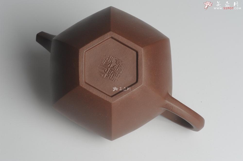 紫砂壶图片:大气端庄 线条流畅 全手工精品六方掇球 - 全手工紫砂壶网