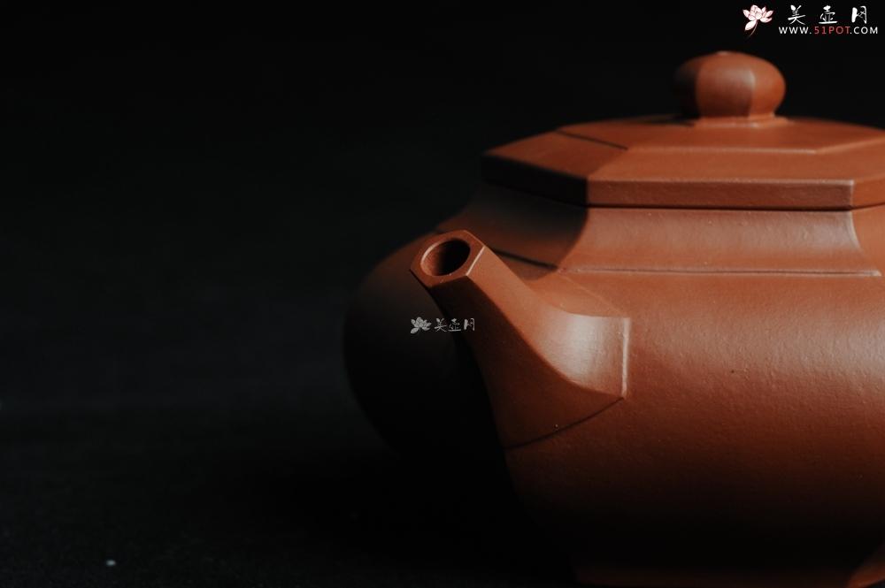 紫砂壶图片:用心之作 优质朱泥全手工大彬六方 工料超好 - 全手工紫砂壶网