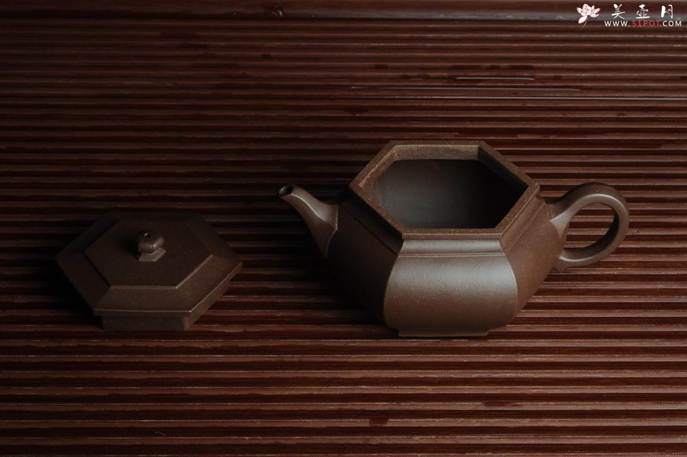 紫砂壶图片:美壶回馈壶友特惠 老紫泥精致全手工大彬六方 - 全手工紫砂壶网