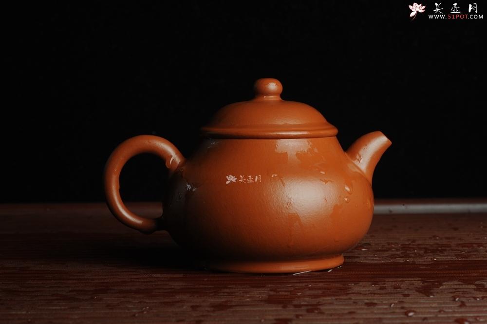 紫砂壶图片:优质赵庄朱泥 全手工潘壶 端庄秀雅 - 全手工紫砂壶网