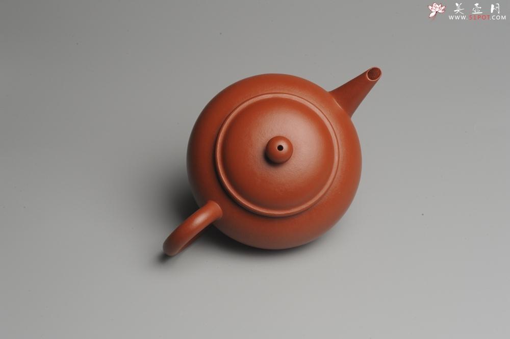 紫砂壶图片:小煤窑朱泥 全手工水平壶 端庄秀雅 - 全手工紫砂壶网