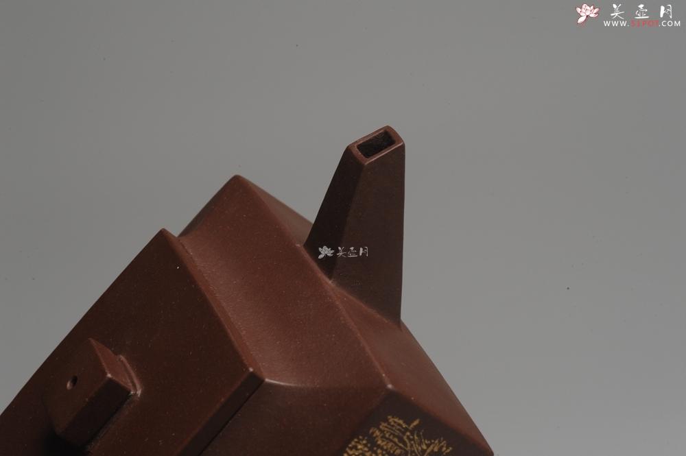 紫砂壶图片:全手工精品方山逸士 线条流畅 - 全手工紫砂壶网