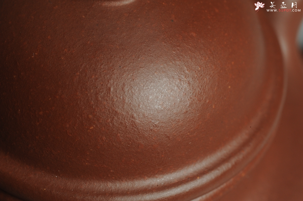 紫砂壶图片:油润底曹青 全手工寿珍掇球 深得老味 做工超好 - 全手工紫砂壶网