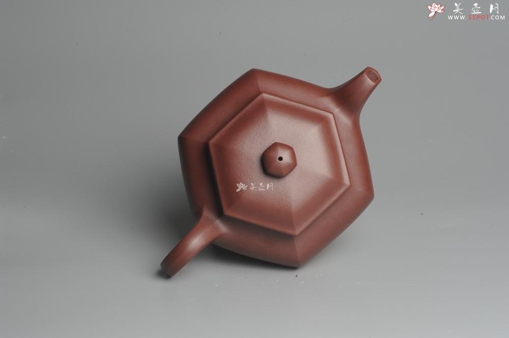 紫砂壶图片:实力派张海艳全手工精工六方仿古壶 气势磅礴 线面挺括平正  - 全手工紫砂壶网