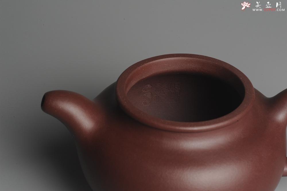 紫砂壶图片:实力派杨老师全手工紫茄泥大亨掇只 深得其味 泥料灰常油润 - 全手工紫砂壶网
