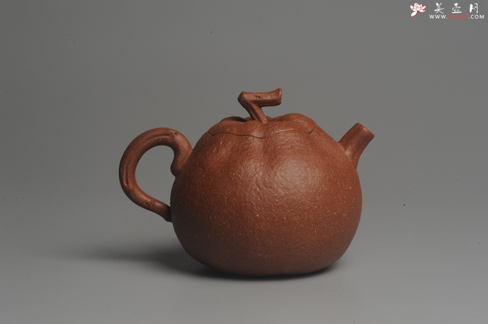 紫砂壶图片:美壶特惠 油润降坡泥精致卡盖全手工仿生丑橘壶 - 全手工紫砂壶网