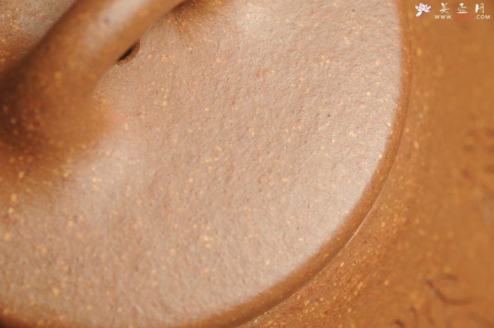 紫砂壶图片:油润五彩段泥 全手工薄胎精品子冶石瓢 难度大 骨肉匀挺 文气装饰高士采耳图 道法自然 - 全手工紫砂壶网