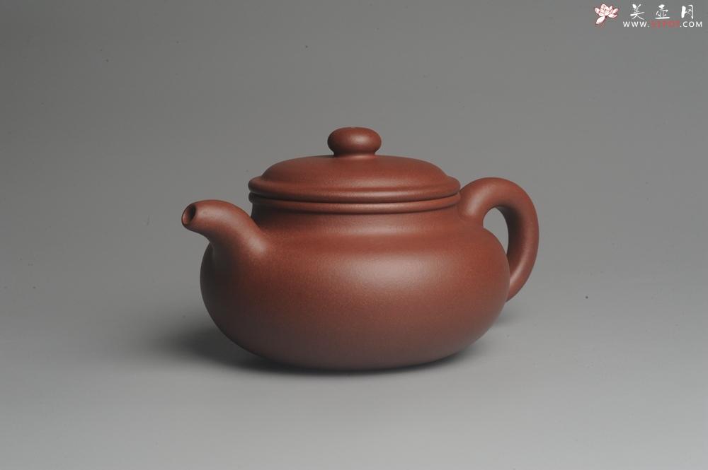 紫砂壶图片:油润底曹青 全手工寿珍仿古 深得老味 做工特好 - 全手工紫砂壶网