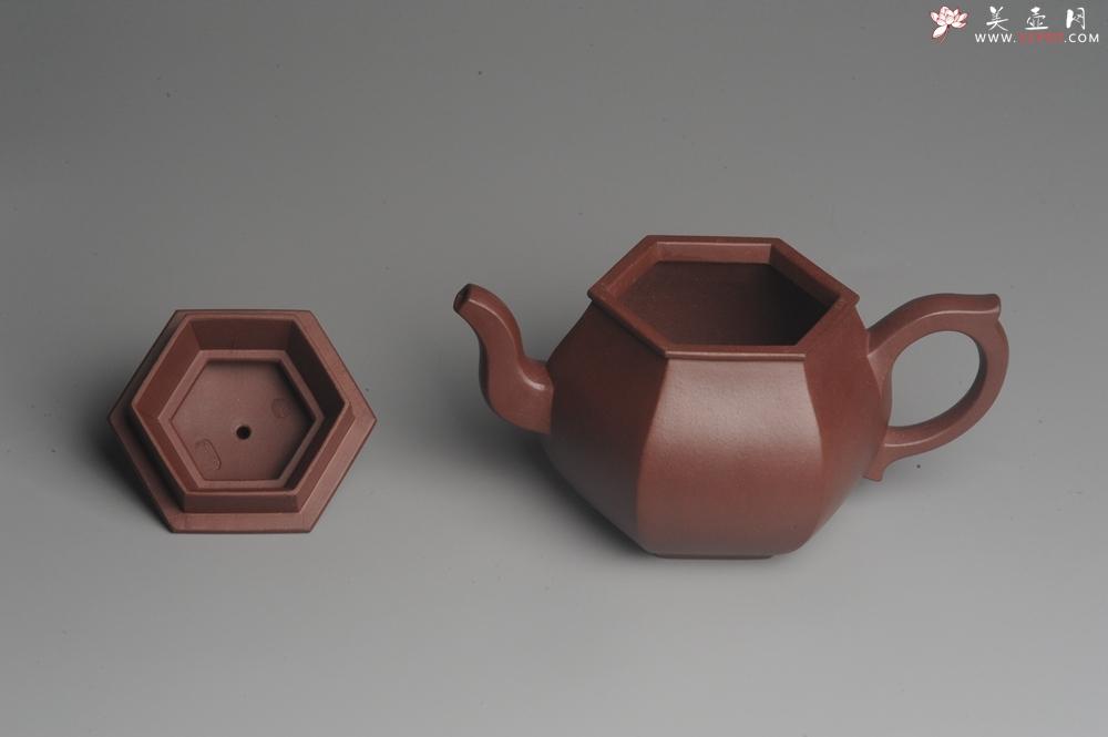 紫砂壶图片:全手工六方高韵 韵味悠长 - 全手工紫砂壶网
