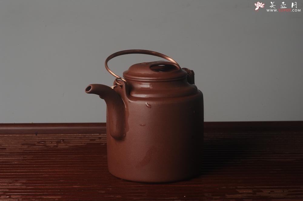 紫砂壶图片:实力派助工全手工演绎洋桶壶 大品难度大 资深壶友看过来 - 全手工紫砂壶网