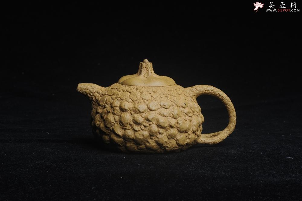 紫砂壶图片:美壶特惠 全手工黄段供春壶 肌理有老树瘿的感觉 灰常赞 - 全手工紫砂壶网