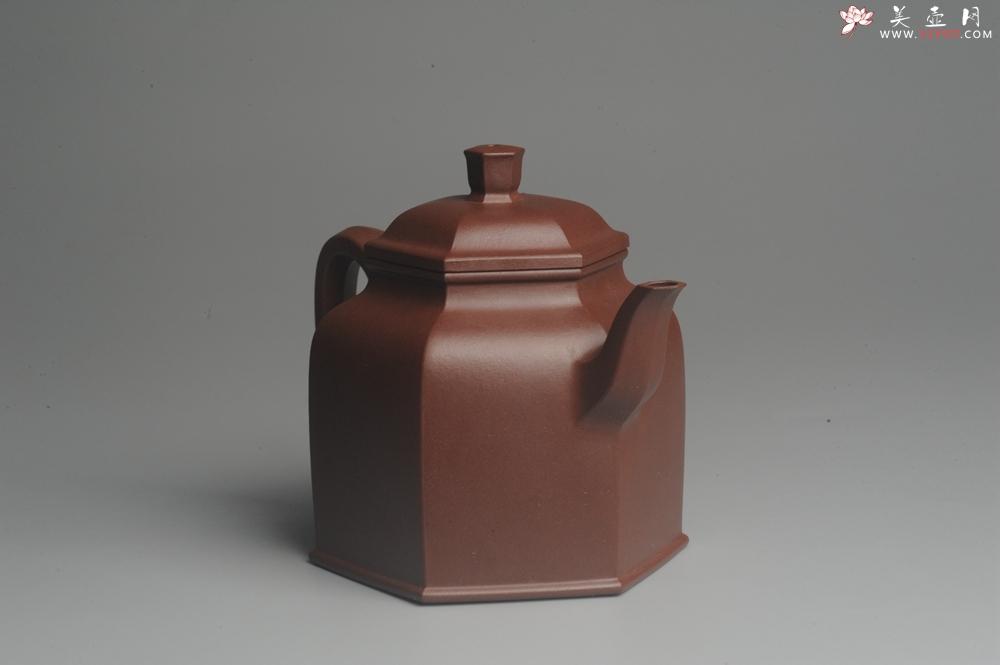 紫砂壶图片:美壶特惠 精致全手工六方金钟 泥料超好 - 全手工紫砂壶网