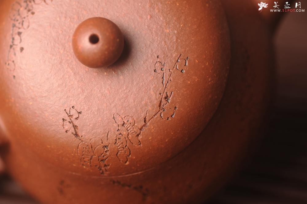 紫砂壶图片:潜力股周小培原创全手工缘德壶 通转梅花 特文气 - 全手工紫砂壶网