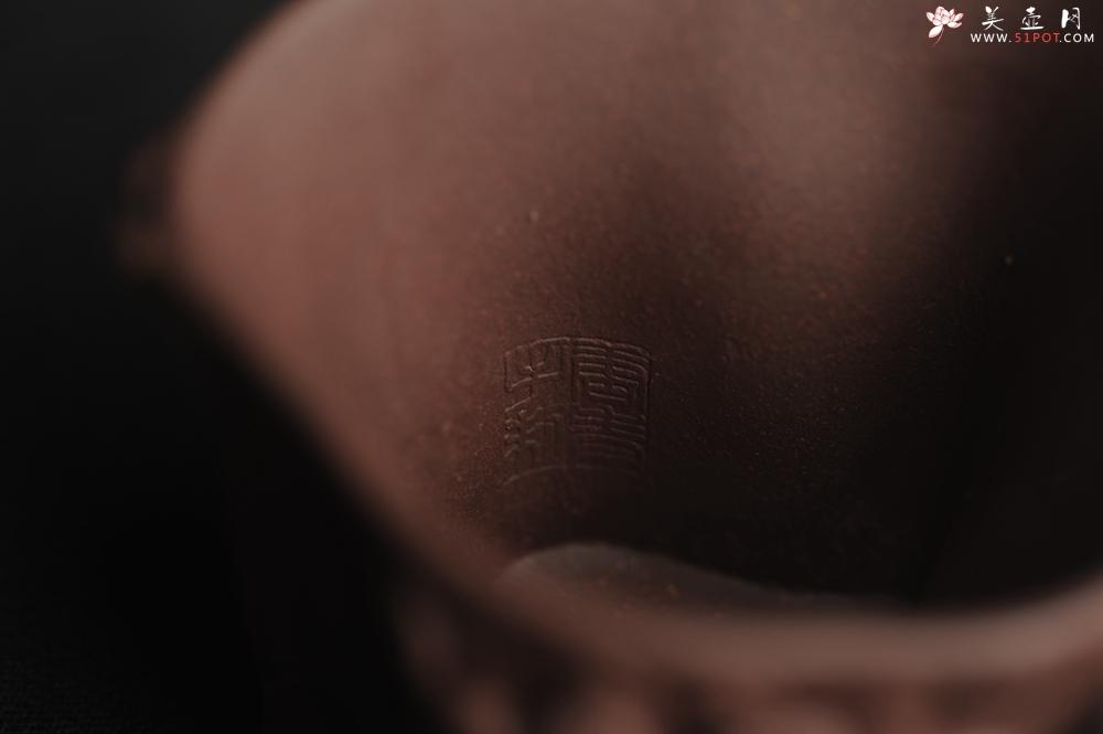 紫砂壶图片:潜力股作品 全手工优质紫泥松桩杯 肌理丰富 全推松皮逼真 枝干生动 - 全手工紫砂壶网