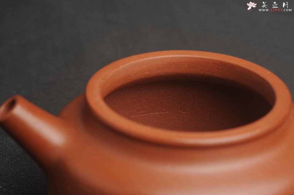 紫砂壶图片:油润老清水泥全手工小品德中壶 装饰虾图 茶亦醉人 特实用文气 - 全手工紫砂壶网