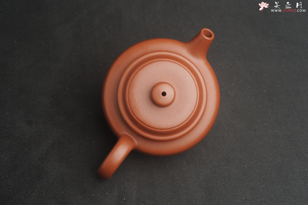 紫砂壶图片:油润老清水泥全手工小品德中壶 特实用文气 - 全手工紫砂壶网