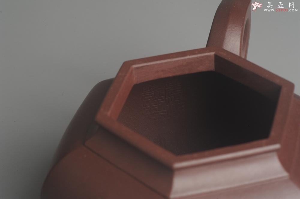 紫砂壶图片:实力派张海艳全手工纯色底曹青六方笑樱壶 做工灰常精致 气韵流畅 - 全手工紫砂壶网