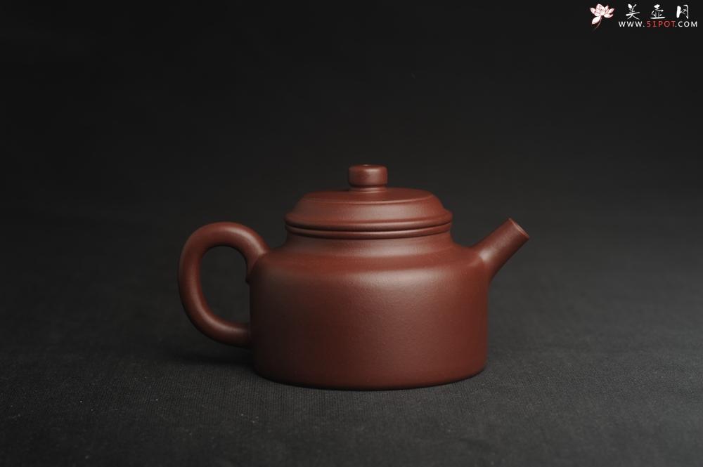 紫砂壶图片:油润黄龙山4号深井红皮龙 全手工德中壶 做工特好 - 全手工紫砂壶网