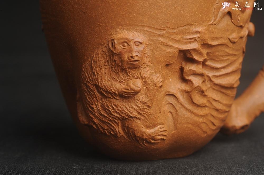 紫砂壶图片:潜力股赵老师 优质黄降坡泥 全手工金猴桃杯 主人杯 - 全手工紫砂壶网