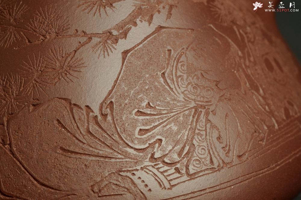 紫砂壶图片:潜力股周小培 特好全手工底槽清子冶石瓢 此是诗仙坡老作 与君同试雨前茶 - 全手工紫砂壶网