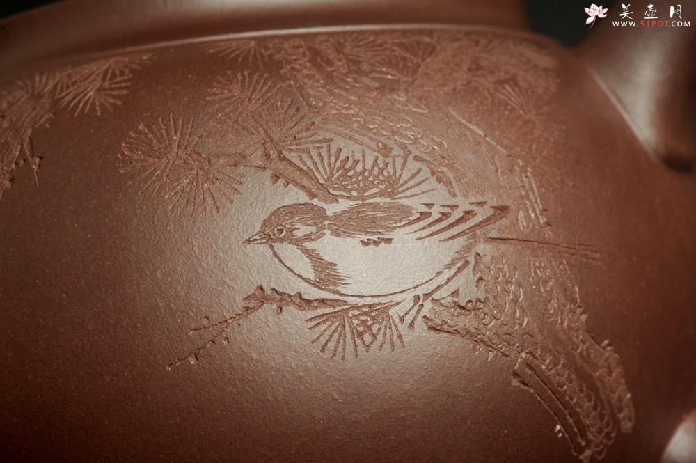 紫砂壶图片:特油润底曹青 全手工大蕴存心壶 卡盖难度相当大 期待与亲结缘 - 全手工紫砂壶网