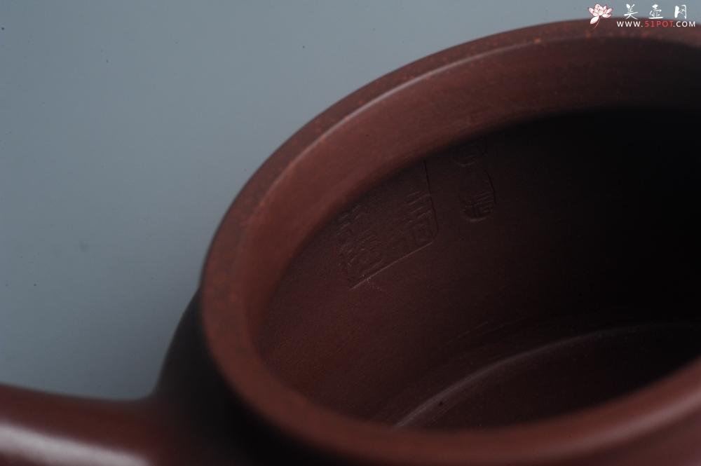 紫砂壶图片:油润黄龙山4号深井红皮龙 全手工德中壶 - 全手工紫砂壶网