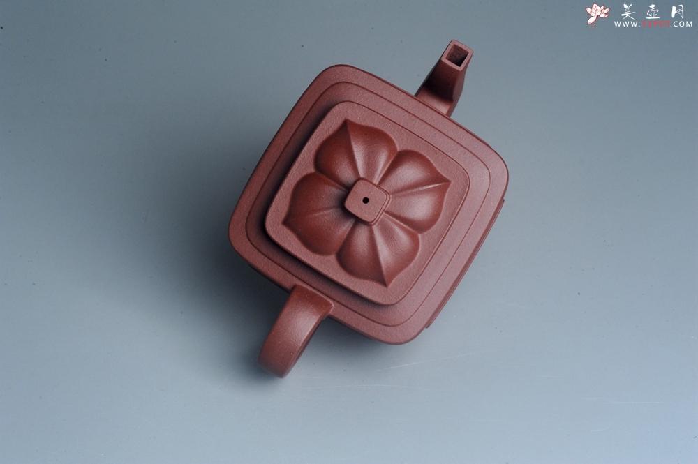 紫砂壶图片:美壶特惠 全手工优质紫红泥精致四方菱花壶 特文气 - 全手工紫砂壶网