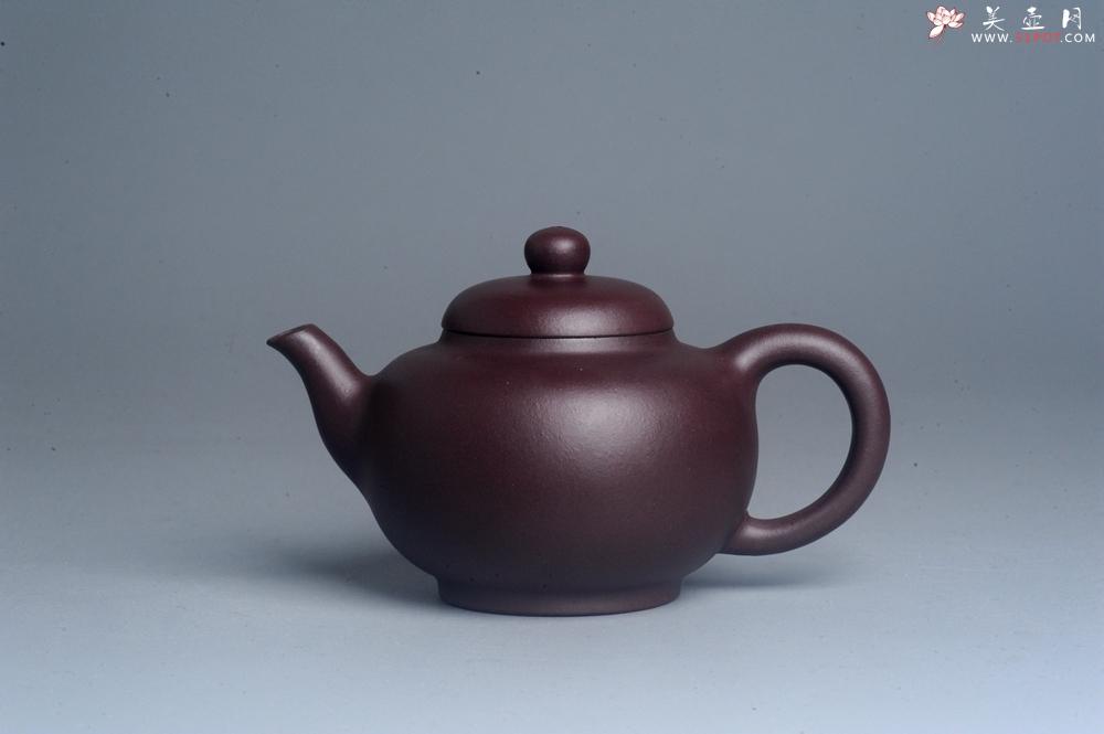紫砂壶图片:油润黄龙山底槽青 全手工熹微壶  期待与您结缘 - 全手工紫砂壶网