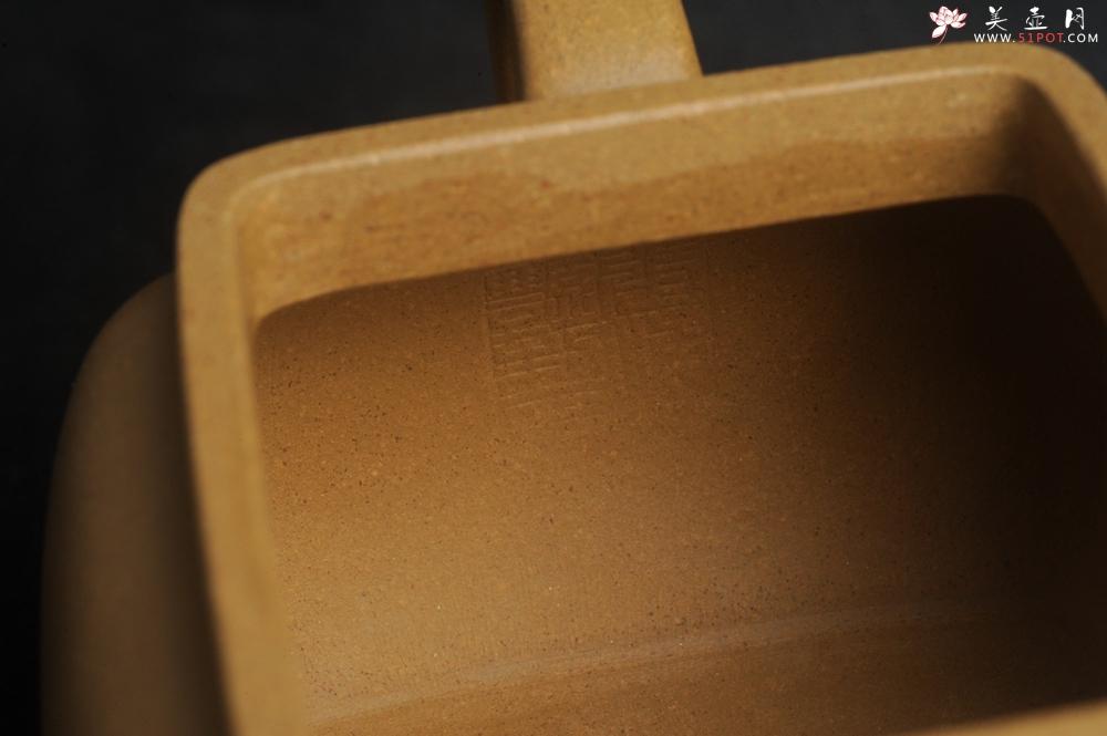 紫砂壶图片:实力派张海艳 全手工黄金段泥四方纳福壶 泥料做工俱佳 期待与亲结缘 - 全手工紫砂壶网