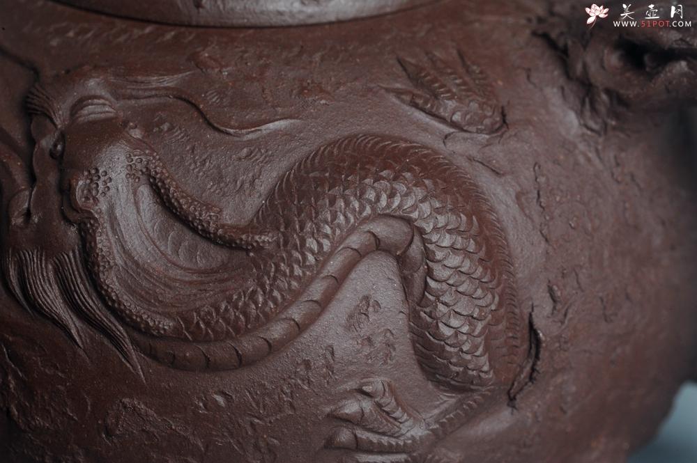 紫砂壶图片:潜力股赵老师实力演绎全手工龙供春壶 肌理细腻逼真 - 全手工紫砂壶网