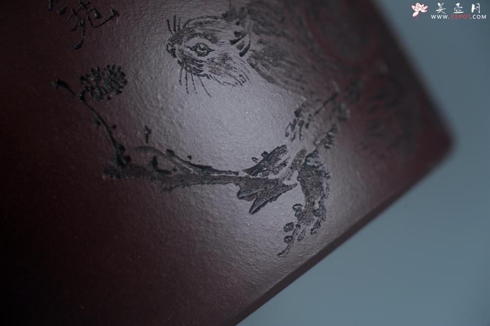 紫砂壶图片:实力派助工文砂苑堂主周斌 优质底槽青全手工精工秦权壶 秋果飘香庆丰收 满月增辉逢双喜 - 全手工紫砂壶网