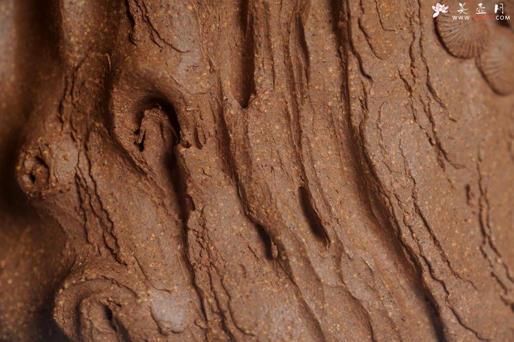 紫砂壶图片:潜力股唐老师 全手工精致老段松桩壶 肌理丰富生动 期待与您结缘 - 全手工紫砂壶网